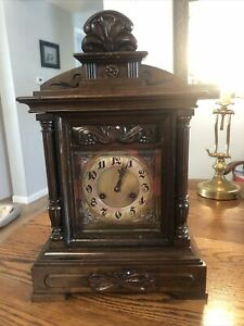 Antique Junghans Westminster Chime Mantle Clock Working / Beautiful Chimes!