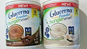 2 Glucerna Hunger Smart 22g Protein Powder Vanilla & Chocolate, exp 1/22