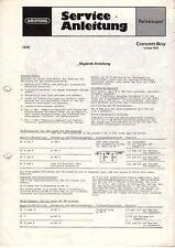 Grundig Original Service Manual für Concert- Boy Luxus 1500