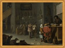 Who sues for a cow Cornelis Saftleven Tiere Fabel Vögel Hunde Laden B A1 01321