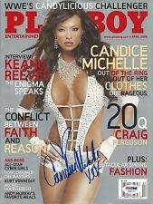 Candice Michelle Signed April 2006 Playboy Magazine PSA/DNA COA WWE Diva Auto'd