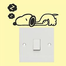 Snoopy light switch stickers  - Wall Art Decal Stickers Quality New