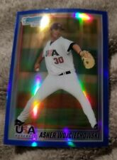 2010 Bowman Chrome Asher Wojciechowski USA Blue Refractor USA-BC20 Low SN 11/250