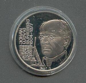 ECU Finland 20 ECU J.L.Runeberg 1995 Silver Pp
