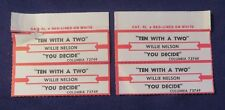 Lot of 4 Jukebox Tags 45 Rpm Title Strips Willie Nelson