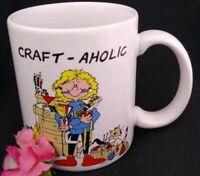 SEWING Mug Pattern Coffee Cup Art Craft-aholic Stitches Crafts