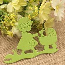 Mädchen Kinderwagen KaninchenBunny StanzformenSchablonen Papier CardEmuggingUWTY