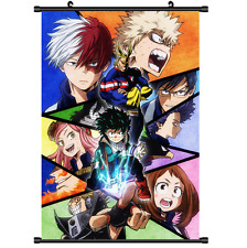 Anime Boku no hero academia My Hero Academia Wall Scroll Poster cosplay 2929