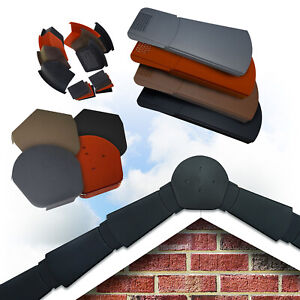 Easy-Trim Dry Verge Kit System Complete Gable / Apex Tile Roof End Mortar Free