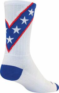 SockGuy SGX Daredevil Socks 6 inch White Large X-Large Unisex Synthetic