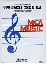 GOD BLESS THE U.S.A.-SHEET MUSIC-EASY-TO-PLAY PIANO SOLO WITH WORDS-NEW ON SALE!