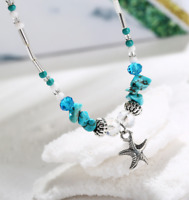 Fashion Women Charm Silver Plated Sea Starfish Anklet Bracelet Bangle Jewelry