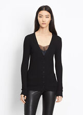 V951 NWT VINCE 100% CASHMERE RIBBED WOMEN CARDIGAN SWEATER SIZE XS $295