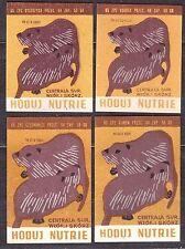 POLAND 1965 Matchbox Label - Cat.Z#577 set, Grow nutrie.