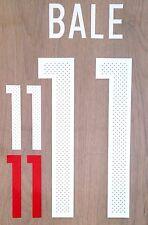 Wales Home Shirt 2016-17 BALE#11 Football Name & Number Kit Set