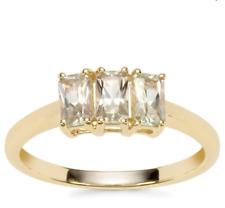 Rare Csarite/Natural Turkish Diaspore Trilogy 10K Yellow Gold Ring Size N-O/7