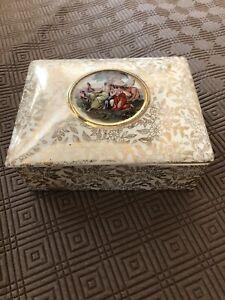 Empire Ware English China trinket box January 1952 Stoke on Trent