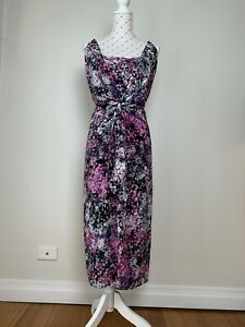 ALANNAH HILL Size 12 He's My Lover Boy Dress Party Cocktail Summer Floral Silk