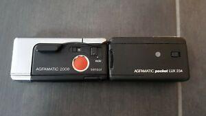 Kleinbildkamera Agfa Agfamatic 2008 tele pocket + Blitz Agfamatic pocket LUX 234