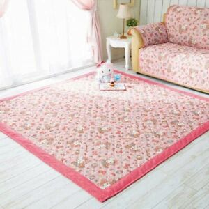 Hello Kitty Cool Touch Fabric Room Rug Carpet Romantic Girly 185x185cm Japan EMS