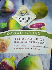 Sunny Fruit Organic Dried Smyrna Figs Natural Tender Juicy Gluten Free Pack 1Kg