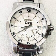 Seiko Premier Kinetic 5M84-0AA0 Sapphire Crystal Quartz Watch - VERY NICE!