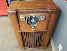 1941 Zenith Console Tube Radio 8s563x 8a02 Wave Magnet Am Shortwave Police Bands