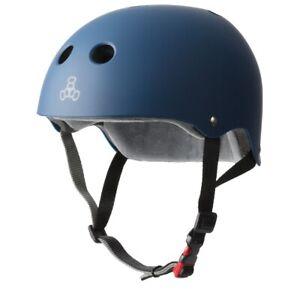 Triple 8 Sweatsaver Adjustable Certified Skate Helmet - Rubber Navy