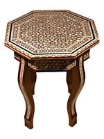 Handmade Moroccan Mother of Pearl Octagonal Table