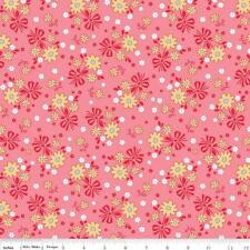 Lori Holt Fabric Pink Calico Days Fabric Pink Floral Quilting Fabric By The 1/2Y