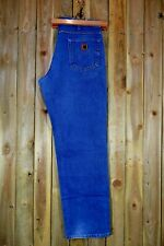CARHARTT Blue Relaxed Fit Men's Jeans Trousers 35W 34L Cotton Denim USA