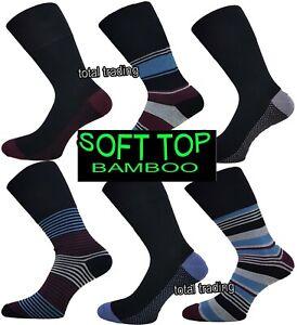 New Men's Non Elastic Bamboo Seam Free Toe Diabetic Gentle Soft Top Grip Sock