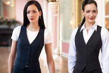 Button V Neck Plus Size Waistcoats for Women