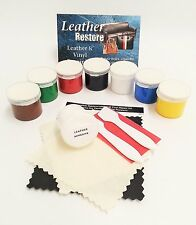 Leather & Vinyl Repair Kit Furniture, Boots, Shoes, Handbags, Cars Fix 7 colors
