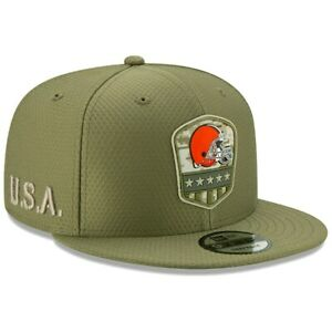 New Era 59FIFTY 2019 7 1/2 NFL CLEVELAND BROWNS Armed Forces Fitted Hat Cap Camo