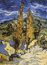 Art Oil painting Vincent Van Gogh - Two Poplars on the way to the hills in 1889