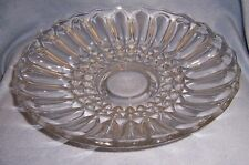 vtg HUGE Depression Glass FOOTED BOWL DISH PLATTER 13""