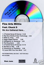 FINE ARTS MILITIA feat CHUCK D We Are Gathered Here UK 10-trk promo test CD