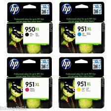 4 x HP ORIGINAL OEM CARTUCCE N. 950 XL NERO, 951 XL CIANO, Magenta & Giallo