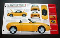 1996 FIAT BARCHETTA CONVERTIBLE UNIQUE IMP BROCHURE '96