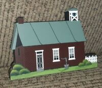 Shelia's Amish Buildings The Schoolhouse Vintage 1997 PA Dutch Collectible WOOD
