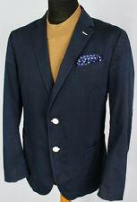 Cotton Jacket Blazer Blue Tommy Hilfiger Designer 42R EXCEPTIONAL 2975