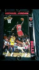 vtg NBA Chicago Bulls Air Michael Jordan 1 nike shoes starline Costacos poster