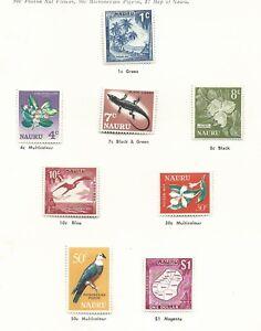 Nauru 1966 1st Definitive's set 8 Mint Hinged sold as per scans