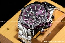 "Invicta Men's 50mm Bolt ""Purple Coffee"" Chronograph dial Stainless Steel Watch"