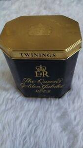 TWININGS TEA The QUEENS GOLDEN JUBILEE 2002 Tin SEAL NOT BROKEN