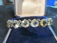 Beautiful Antique Quality Silver Gilt & Lemon Citrine Bracelet