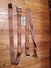 1970's GM Cadillac Buick FRONT Shoulder Strap Seat Belts (Set 2)  *SADDLE BROWN*