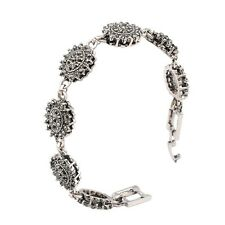 Special Jewelry Small Black Round Rhinestone Silver Plated Lady Girl Bracelet