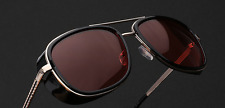 ORIGINAL Brown Tony Stark Steampunk IronMan Men Women AVIATOR Vintage Sunglass